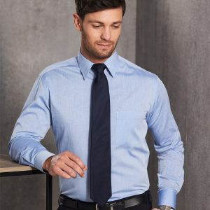 M7012 Men's Fine Chambray Long Sleeve Shirt 2     Promotion Wear