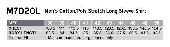 M7020L Men's Cotton/Poly Stretch Long Sheeve Shirt
