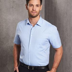M7040S Men's CVC Oxford Short Sleeve Shirt