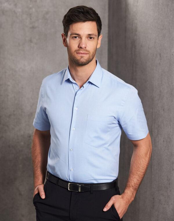 M7040S Men's CVC Oxford Short Sleeve Shirt 1 | | Promotion Wear