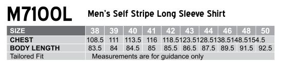 M7100L Men's Self Stripe Long Sleeve Shirt