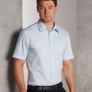 M7100S Men's Self Stripe Short Sleeve Shirt