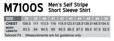 M7100S Men's Self Stripe Short Sleeve Shirt