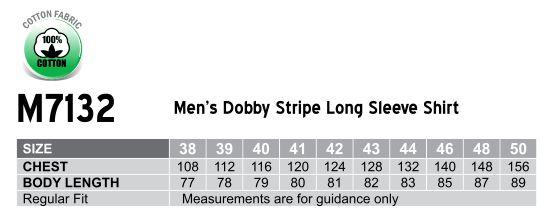 M7132 Men's Dobby Stripe long sleeve shirt