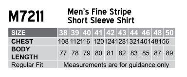 M7211 Men's Fine Stripe Short Sleeve Shirt