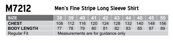 M7212 Men's Fine Stripe Long Sleeve Shirt