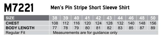 M7221 Men's Pin Stripe Short Sleeve Shirt