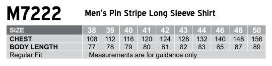 M7222 Men's Pin Stripe Long Sleeve Shirt