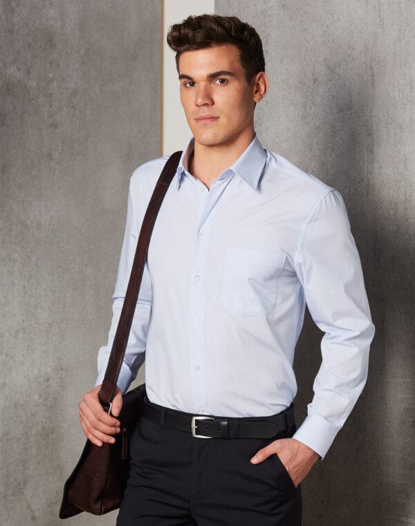 M7360L Men's Mini Check Long Sleeve Shirt