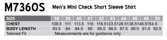 M7360S Men's Mini Check Short Sleeve Shirt