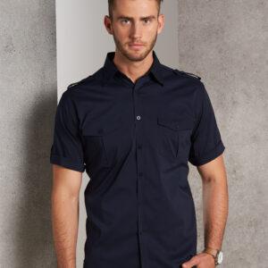 M7911 Men's Short Sleeve Military Shirt 2     Promotion Wear