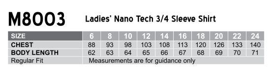 M8003 Women's Nano ™ Tech 3/4 Sleeve Shirt