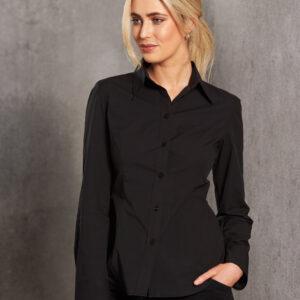 M8020L Women's Cotton/Poly Stretch Long Sleeve Shirt 3 | | Promotion Wear