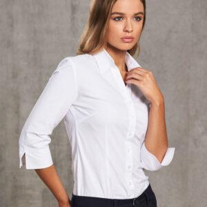 M8020Q Women's Cotton/Poly Stretch 3/4 Sleeve Shirt 4 | | Promotion Wear
