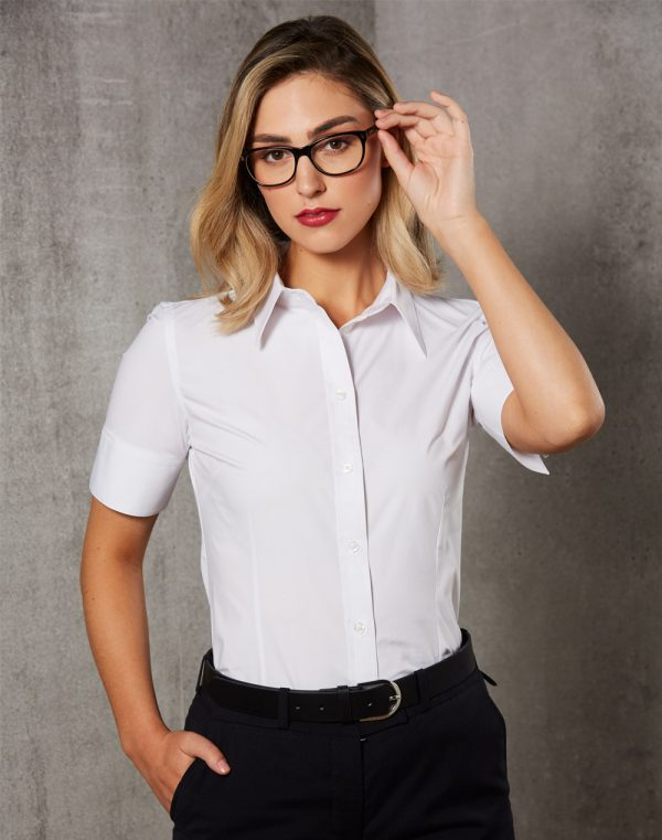 M8020S Women's Cotton/Poly Stretch Sleeve Shirt 1 | | Promotion Wear