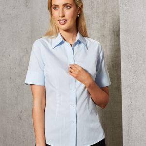 M8100S Women's Self Stripe Short Sleeve Shirt 2 | | Promotion Wear