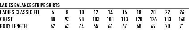 M8234 Women's Balance Stripe Short Sleeve Shirt