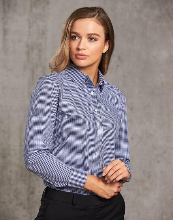 M8320L Ladies' Multi-Tone Check Long Sleeve Shirt 1 | | Promotion Wear