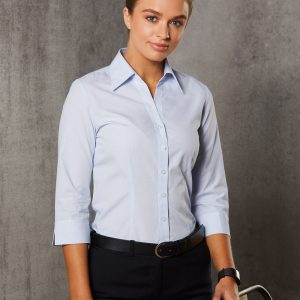 M8360Q Women's Mini Check 3/4 Shirt