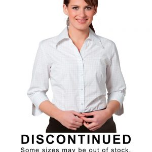 M8373 Women's 3/4 Sleeve Check Shirt