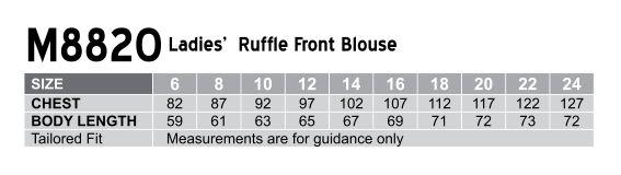 M8820 Women's Ruffle Front Blouse