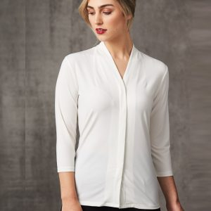 M8830 LADIES 3/4 SLEEVE STRETCH KNIT TOP ISABEL