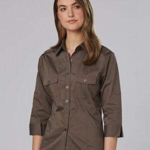 M8913 Women's 3/4 Sleeve Military Shirt 1     Promotion Wear