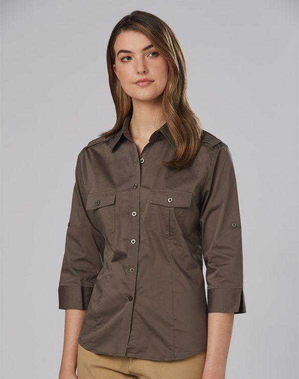 M8913 Women's 3/4 Sleeve Military Shirt 1 | | Promotion Wear