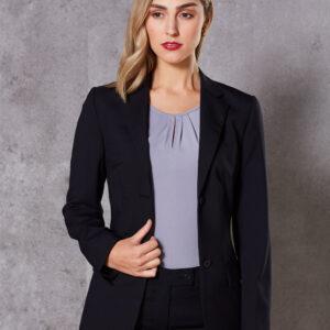M9200 Women's Wool Blend Stretch Mid Length Jacket