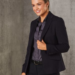 M9205 Women's Poly/Viscose Stretch One Button Cropped Jacket