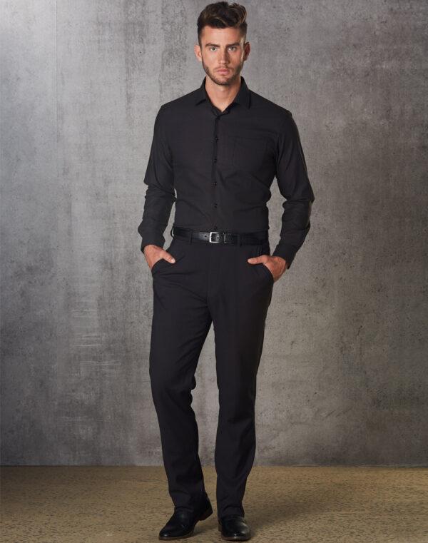 M9340 Men's Polyviscose Flexi Waist Stretch Pants 1     Promotion Wear