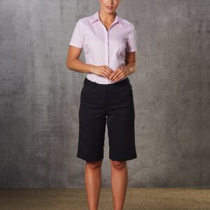 M9441 Women's Poly/Viscose Stretch Knee Length Flexi Waist Shorts 6 | | Promotion Wear