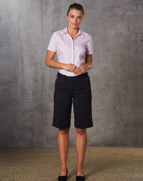 M9441 Women's Poly/Viscose Stretch Knee Length Flexi Waist Shorts 1     Promotion Wear