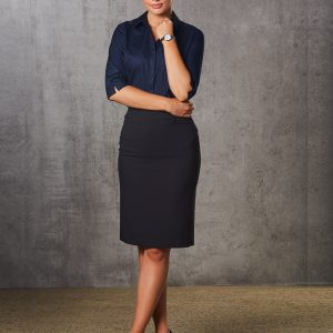 M9471 Women's Poly/Viscose Stretch Mid Length Lined Pencil Skirt 1     Promotion Wear