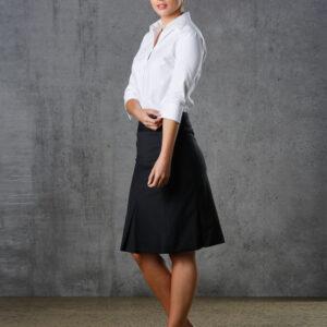 M9473 Women's Wool Blend Strecth Pleated SKirt