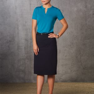 M9478 Women's Poly/Viscose Stretch Twill Flexi Waist A-line Utility Lined Skirt 2     Promotion Wear