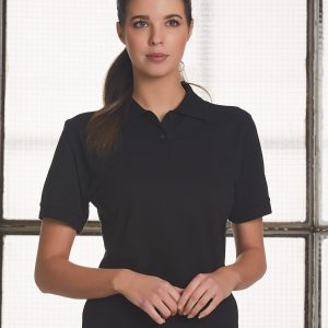 PS23 Ladies Tight Pique Knit Short Sleeve Polo