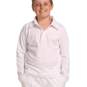 PS29KL CRICKET POLO Long Sleeve Kids' 2     Promotion Wear