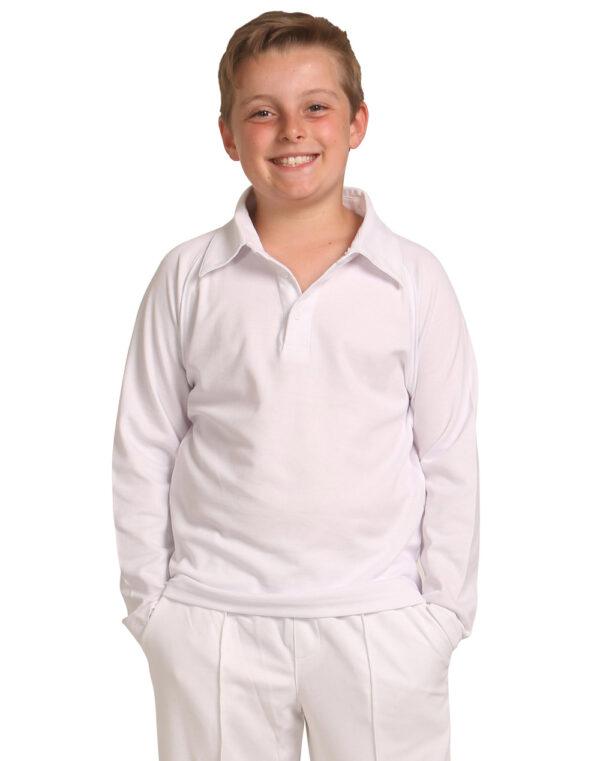 PS29KL CRICKET POLO Long Sleeve Kids' 1     Promotion Wear