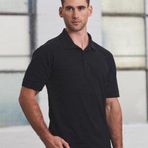 PS39 Mens Cotton Pique Knit Short Sleeve Polo