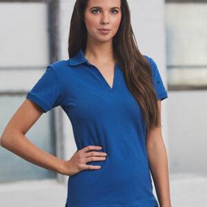 PS40 Ladies Cotton Pique Knit Short Sleeve Polo