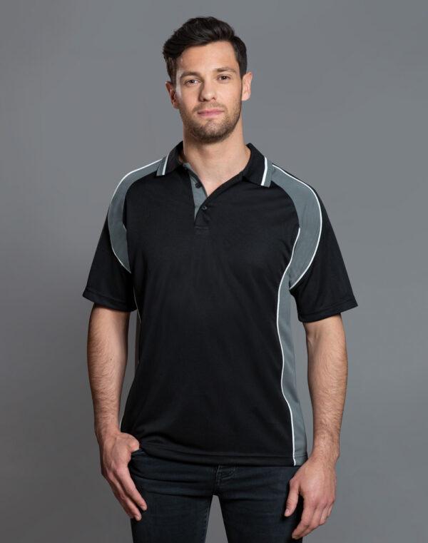 PS49 Mens CoolDry® Mini Waffle Short Sleeve Polo