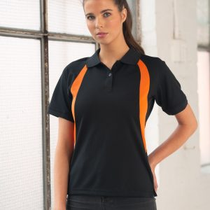 PS52 Ladies CoolDry® Mesh Contrast Short Sleeve Polo