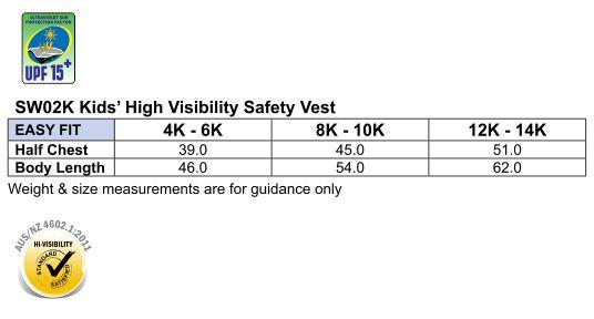 SW02K Hi-Vis SAFETY VEST Kid's