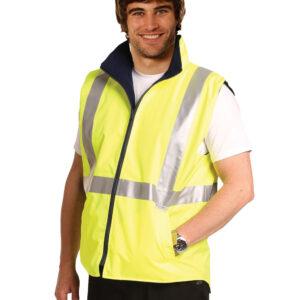 SW19A HI-VIS REVERSIBLE SAFETY VEST WITH 3M TAPES 3     Promotion Wear
