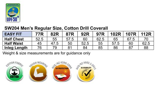 SW204 MEN'S TWO TONE COVERALL Regular Size