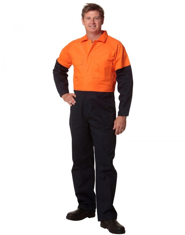 SW205 MEN'S TWO TONE COVERALL Stout Size