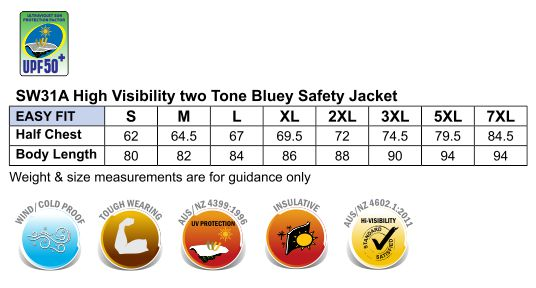 SW31A HI-VIS TWO TONE BLUEY JACKET