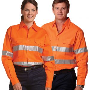 SW52 COTTON DRILL SAFETY SHIRT - Unisex 1     Promotion Wear