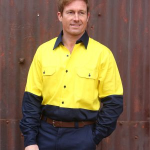 SW54 COTTON DRILL SAFETY SHIRT